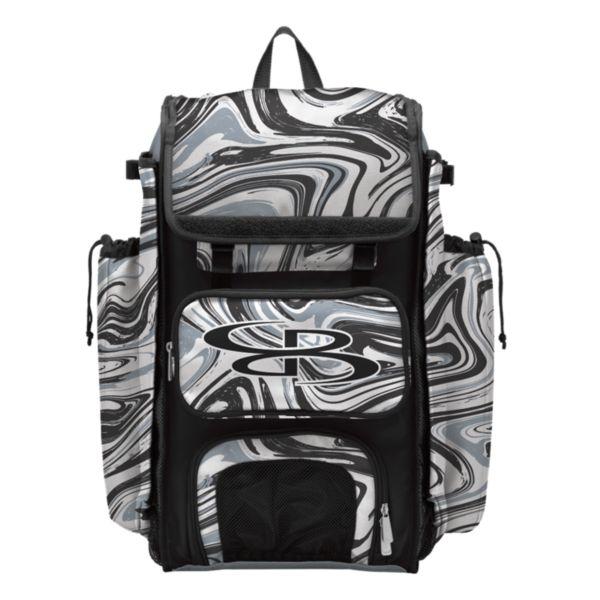 Catcher's Superpack Bat Bag Marbleized Gray/Black/White