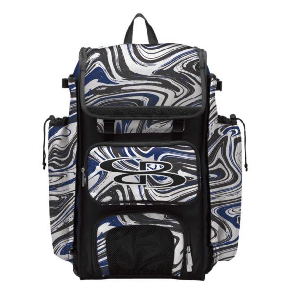 Catcher's Superpack Bat Bag Marbleized Royal/Black/White