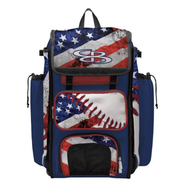Catcher's Superpack Bat Bag USA Baseball RB/RD/W