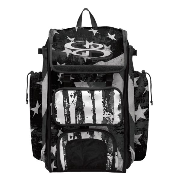 Catcher's Superpack Bat Bag USA Stars & Stripes Black Ops Black/White