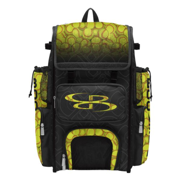 Superpack Softball 1.0 Bat Bag Black/Optic Yellow/Red