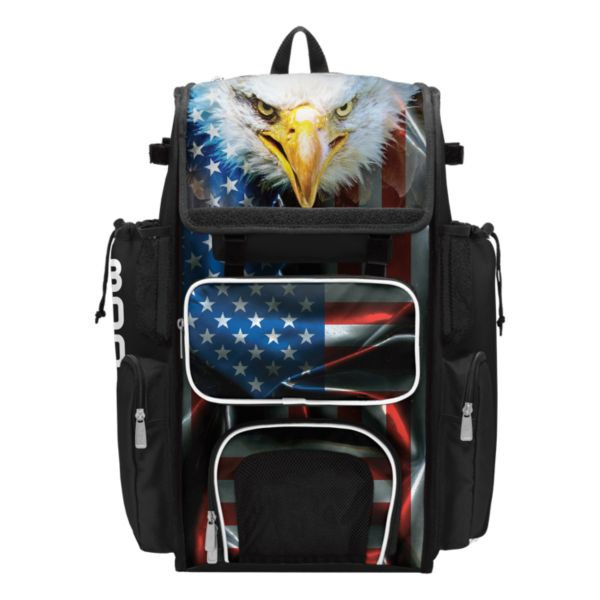 Superpack USA Eagle Bat Bag Black/Red/White