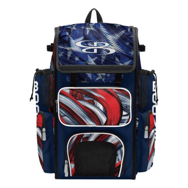 Superpack USA Wave Bat Bag Navy/Red/White