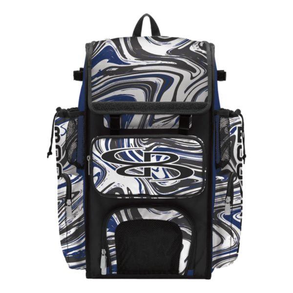 Superpack Marbleized Bat Bag 2.0 Royal/Black/White