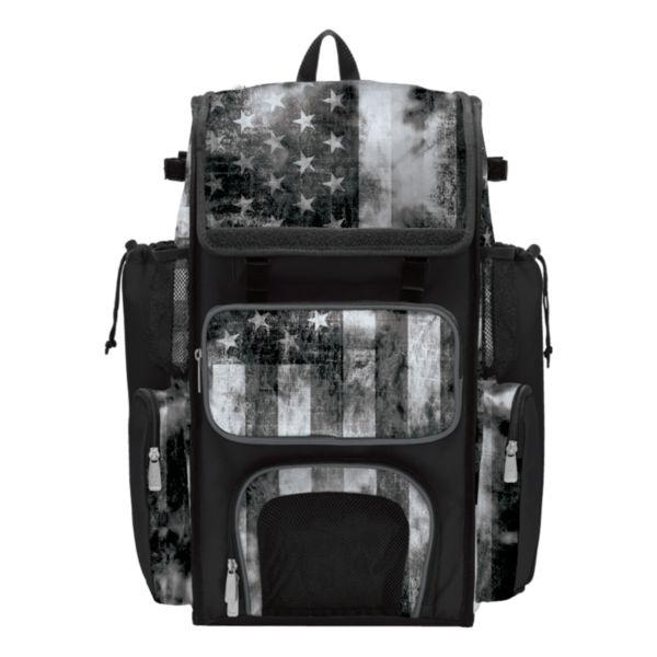 Superpack USA Old Glory Black Ops Bat Bag 2.0 Black/Charcoal/White