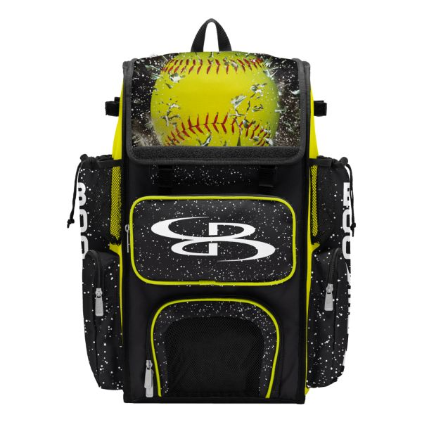 Superpack Softball Highlight Bat Bag 2.0 Black/Optic Yellow/Red