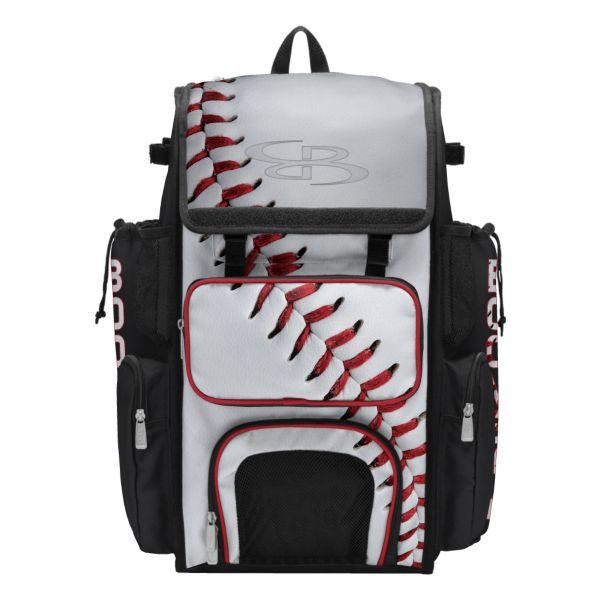 Superpack 2.0 Bat Bag Homerun Baseball White/Black/Red
