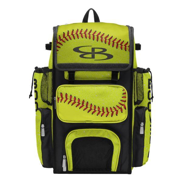 Superpack 2.0 Bat Bag Softball 2.0 Optic Yellow/Red/Black