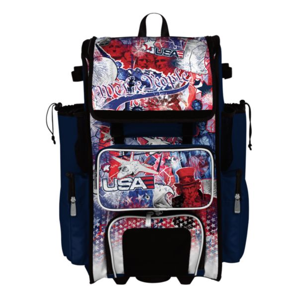 Superpack USA Liberty Rolling Bat Bag 2.0