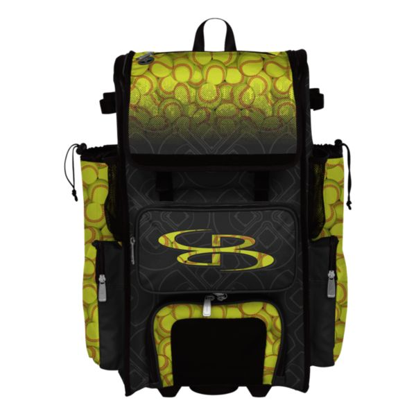 Rolling Superpack 2.0 Softball Black/Optic Yellow/Red