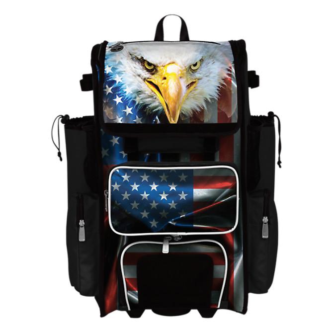 Wheeled /& Backpack Version Boombah Superpack Hybrid Rolling Bat Bag Softball Black//Optic Yellow//Red