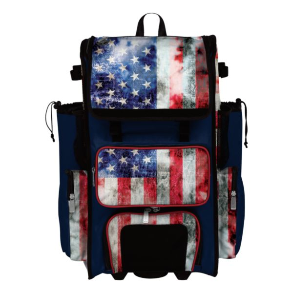 Superpack USA Old Glory Rolling Bat Bag 2.0
