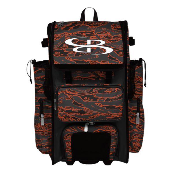 Superpack Tiger Camo Rolling Bat Bag 2.0