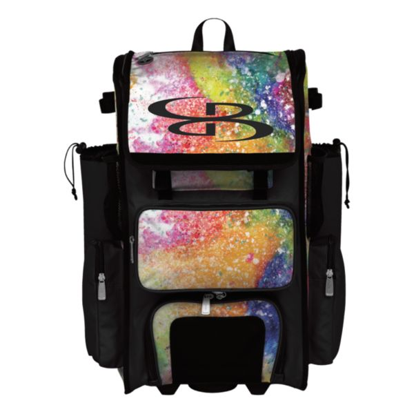 Superpack Rainbow Splatter Rolling Bat Bag 2.0