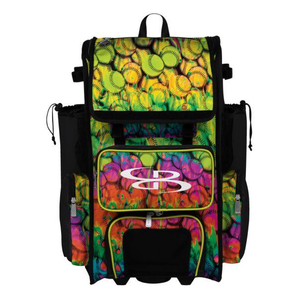 Superpack Neon Ballpark Rolling Bat Bag 2.0