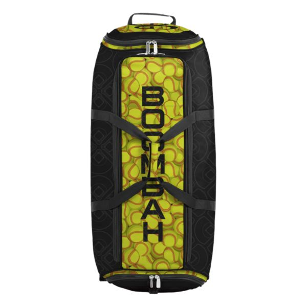 Brute Rolling Bat Bag 2.0 Softball Black/Optic Yellow/Red