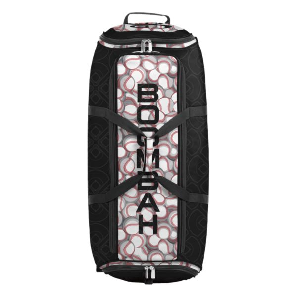 Brute Rolling Bat Bag 2.0 Baseball Black/Red/White