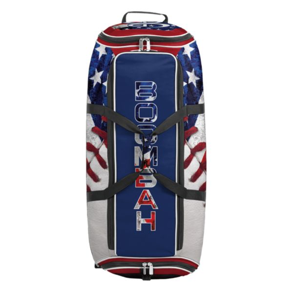 Brute Rolling Bat Bag 2.0 USA Baseball Royal Blue/Red/White