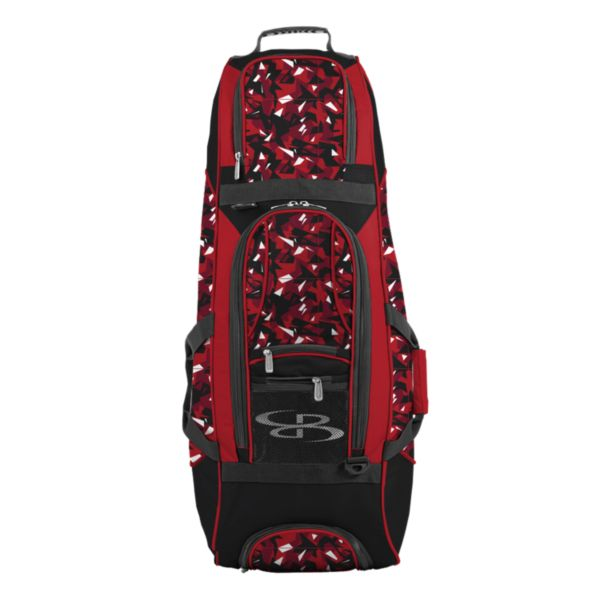 Spartan Rolling Bat Bag 2.0 Stealth Camo Red/Black/White