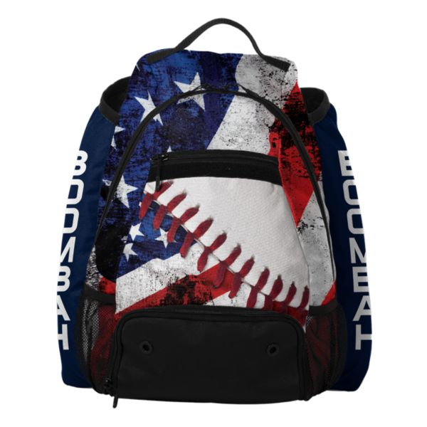 Core Batpack USA Baseball White/Red/Navy