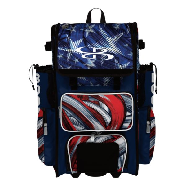 Superpack Hybrid USA Wave Rolling Bat Bag 2.0