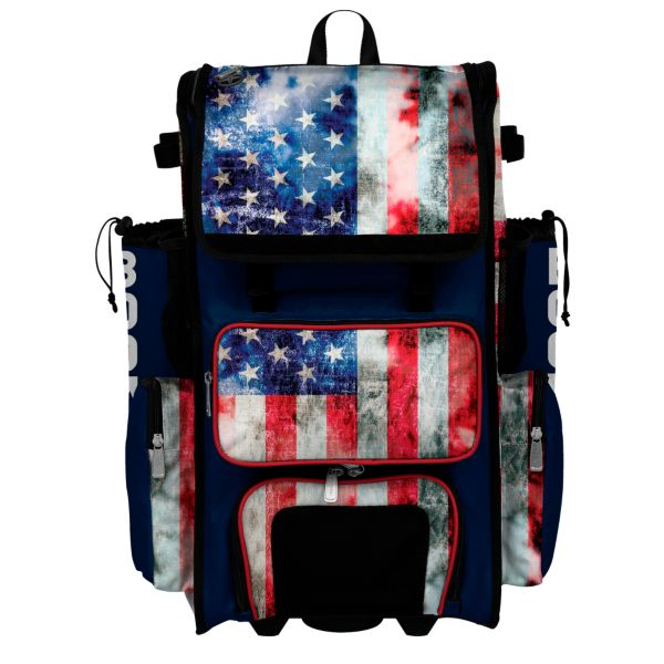 Superpack Hybrid USA Old Glory Rolling Bat Bag
