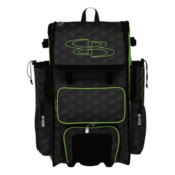 Rolling Superpack Hybrid 3DHC Bat Pack Black/Lime Green