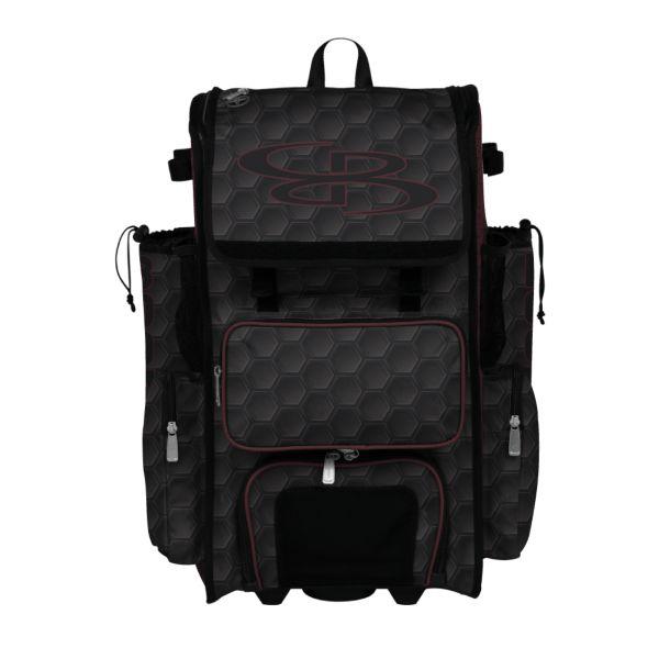 Rolling Superpack Hybrid 3DHC Bat Pack Black/Maroon