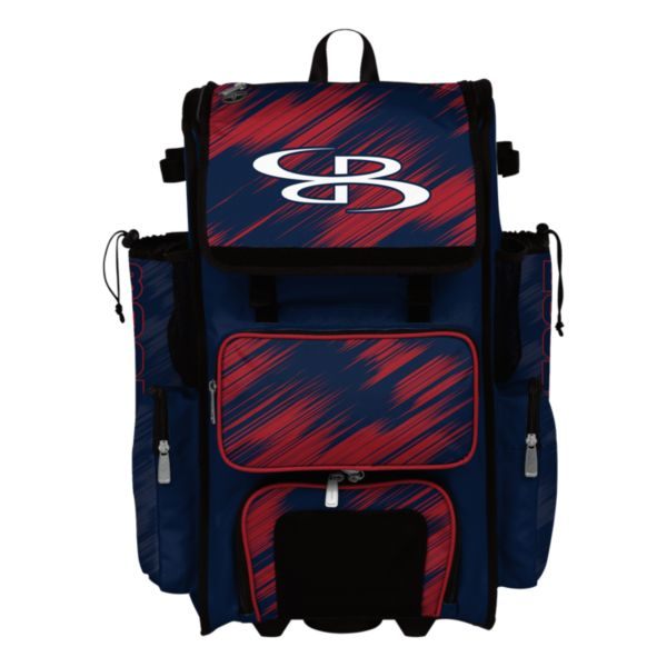 Rolling Superpack Hybrid Scratch Bat Pack Navy/Red