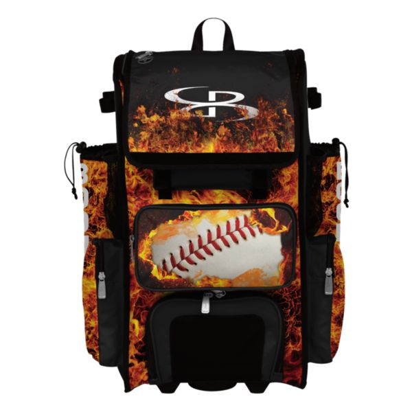 Superpack Hybrid Fire Ball Rolling Bat Bag