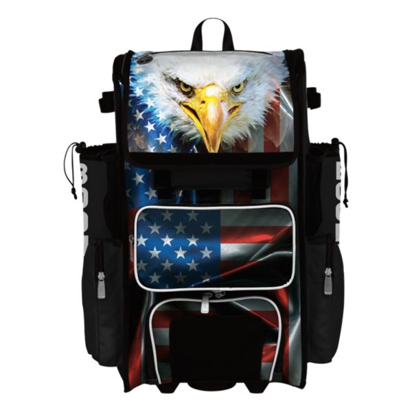 Superpack Hybrid USA Eagle Rolling Bat Bag