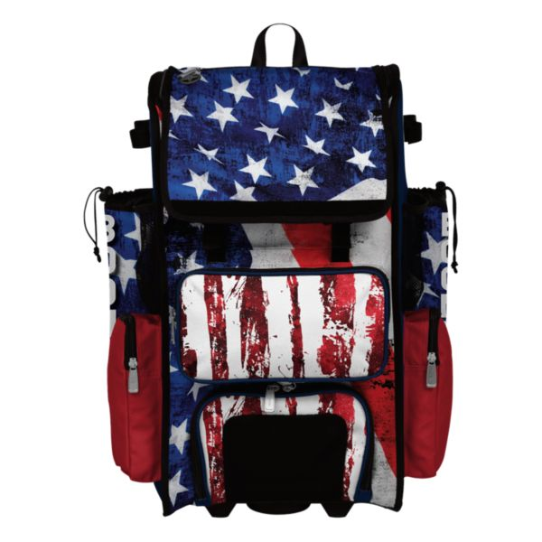 Superpack Hybrid USA Stars & Stripes Rolling Bat Bag