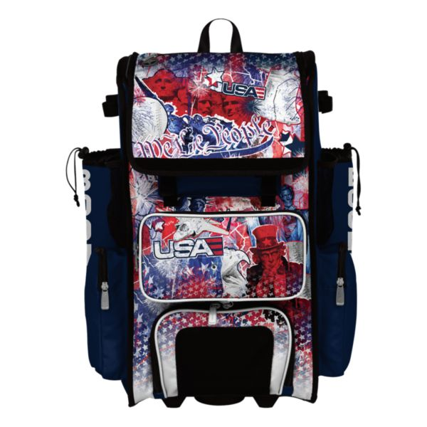 Superpack Hybrid USA Liberty Rolling Bat Bag