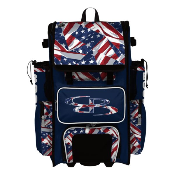 Rolling Superpack Hybrid USA Independence Bat Pack Navy/Red/White