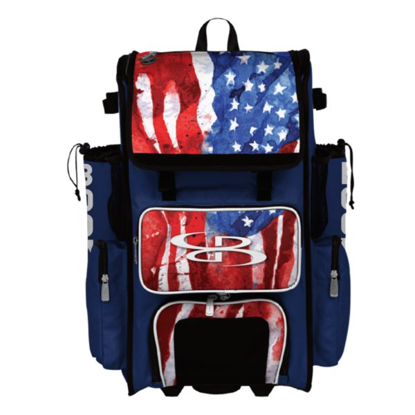 Superpack Hybrid USA Watercolor Bat Pack Royal Blue/White/Red