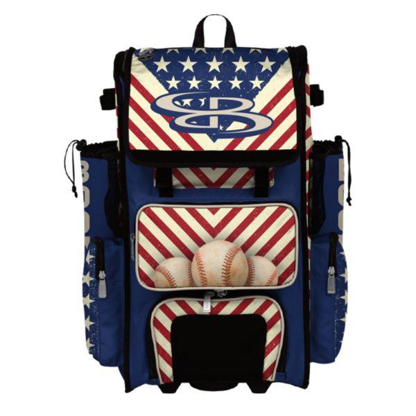 Superpack Hybrid USA Pennant Rolling Bat Bag