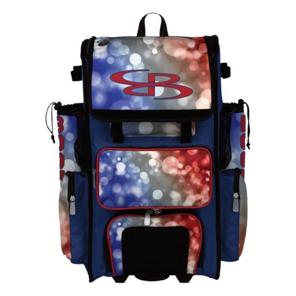 Superpack Hybrid USA Aura Rolling Bat Bag