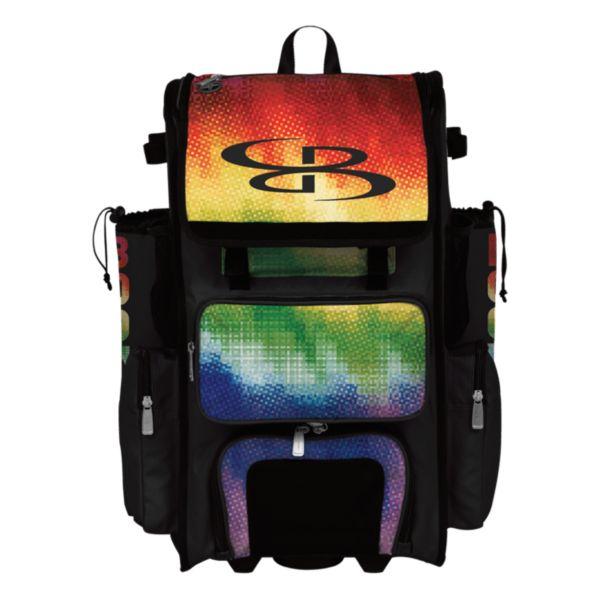 Superpack Hybrid Pixelpop Rolling Bat Bag
