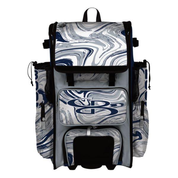 Superpack Hybrid Marbleized Rolling Bat Bag