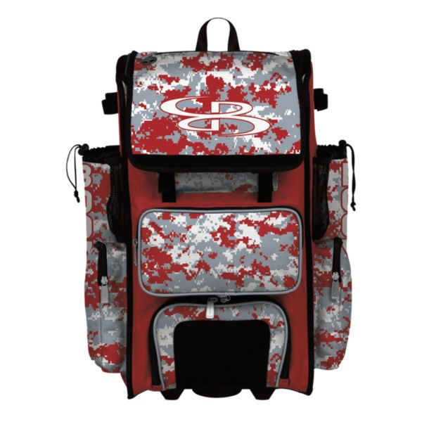 Rolling Superpack Hybrid Camo Bat Pack Red/Gray