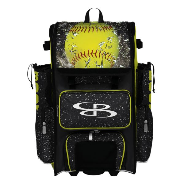 Superpack Hybrid Softball Highlight Bat Pack Black/Optic Yellow/Red