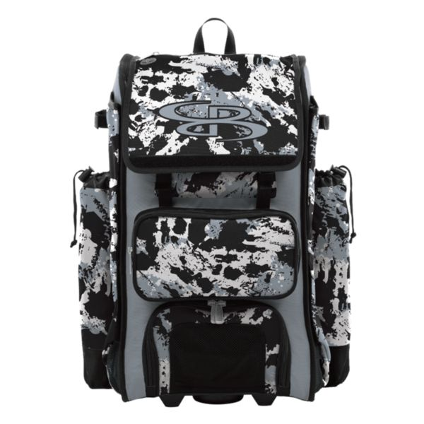 Catcher's Superpack Hybrid Rocket Bat Bag Gray/Black/White