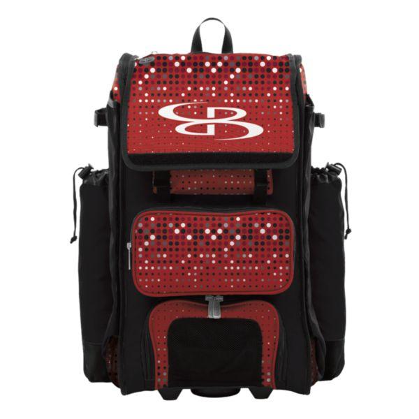 Catcher's Superpack Hybrid Spotlight Bat Bag Black/Red/White