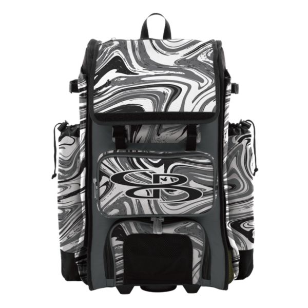 Catcher's Superpack Hybrid Marbleized Bat Ba Black/Charcoal/White