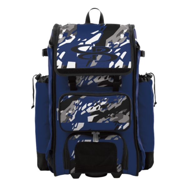 Catcher's Superpack Hybrid Hexfire Bat Bag Black/Royal/White