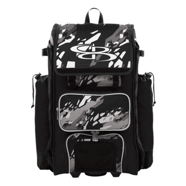 Catcher's Superpack Hybrid Hexfire Bat Bag Black/White