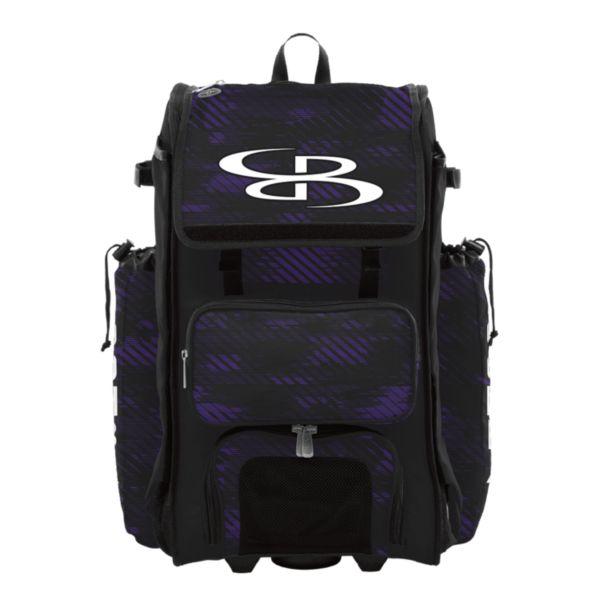 Rolling Catcher's Superpack Bat Bag Force Black/Purple