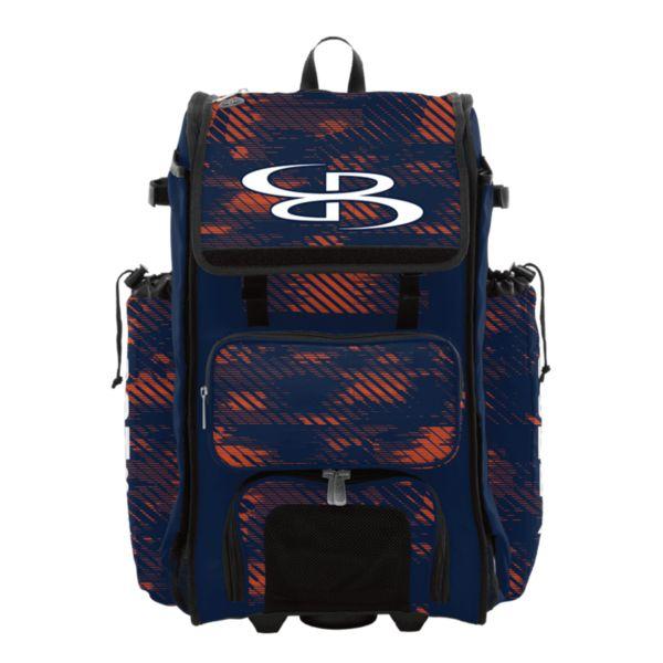 Rolling Catcher's Superpack Bat Bag Force Navy/Orange