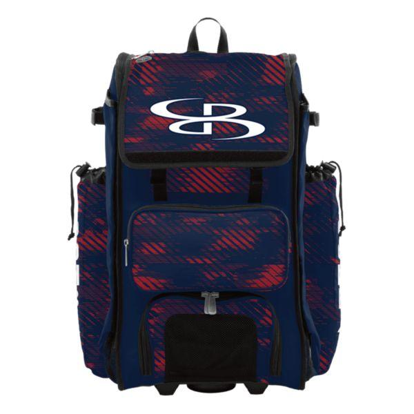 Rolling Catcher's Superpack Bat Bag Force Navy/Red