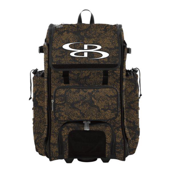 Rolling Catcher's Superpack Bat Bag Shadow Black/Gold